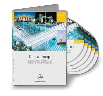 audio 30 aps navigation cd set for europe v10 1 mercedes. Black Bedroom Furniture Sets. Home Design Ideas