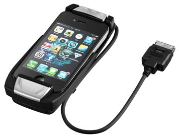Mercedes iphone 4 4s phone cradle with 30cm cable for Mercedes benz connect iphone