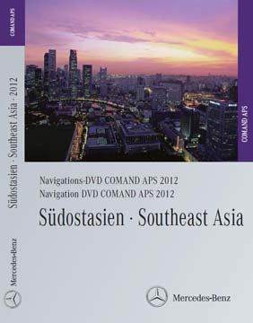 Comand APS Map DVD South East Asia 2012 for NTG4 in W204-C and SLS