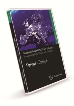 Comand APS Map DVD Europe 2015/2016 (V16.0) for E (W211), CLS, SLK (R171), SL (R230), Maybach, S/CL (W220/W215)