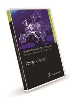 Comand APS Map Update DVD Europe for NTG3 2016/2017 in S and CL Class.