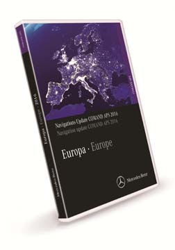 Comand APS Map DVD Europe 2016  for NTG4-W204 in C, GLK & SLS Class.