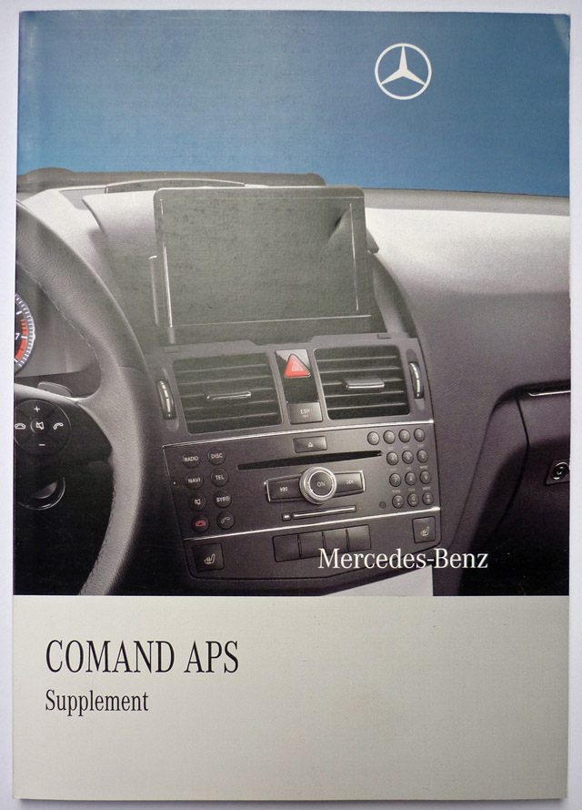 Comand ntg4 manual for w204 c and glk class mercedes for Mercedes benz navigation system manual
